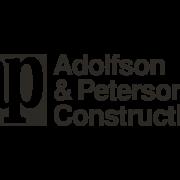 B&W logo for Adolfson & Peterson Construction