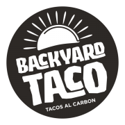 Backyard Taco (Tacos al Carbon) Logo in B&W